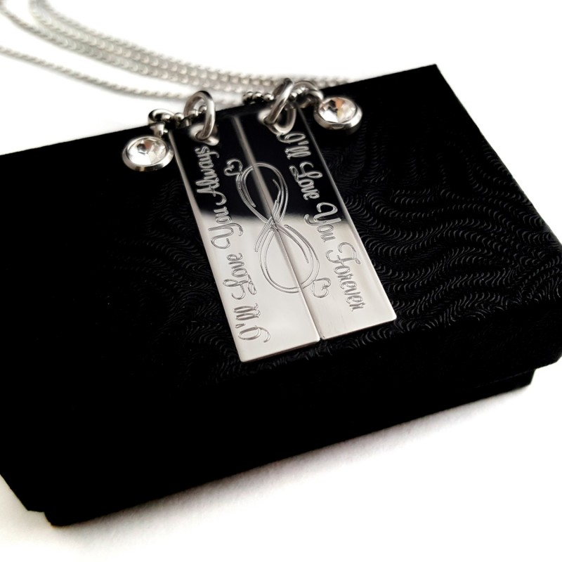 Couples Infinity Symbol Forever and Always Necklace Set ...